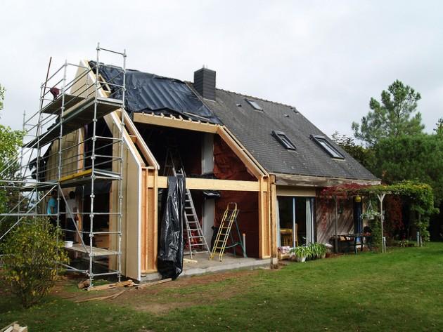 La rénovation thermique d'une maison. / Ph. Michel Turbin via Flickr - CC BY SA 2.0