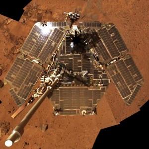 Sur la planète Mars, encore, c'est le robot Opportunity, qui arpente Mars depuis plus de dix ans, qui s'offre un selfie bien mérité... Photo Nasa.