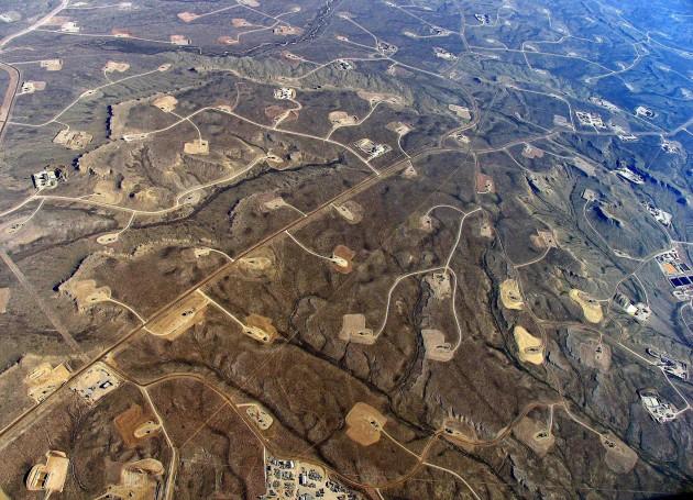 La technologie de fracturation hydraulique défigure le paysage (Ph. Simon Fraser University)