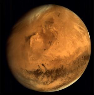 La planète Mars, photographiée par la sonde indienne Mangalyaan. Photo ISRO.