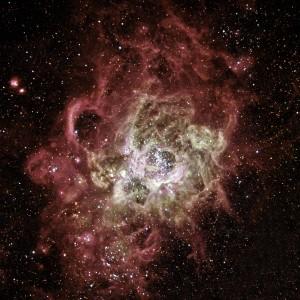 L'extraordinaire nébuleuse NGC 604, photographiée par le télescope spatial Hubble. Photo Nasa/ESA/STSCI.
