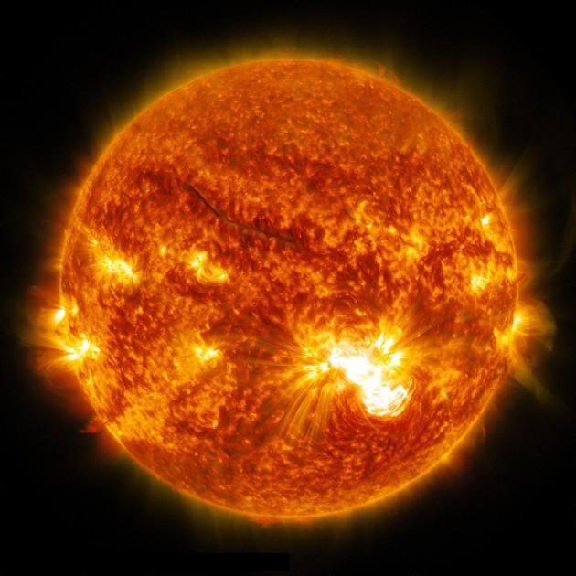 De gigantesques éruptions solaires menacent la Terre (crédit NASA/SDO)