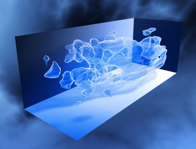 Une carte 3D de la répartition supposée de la matière noire dans l'Univers (NASA/ESA/CIT)