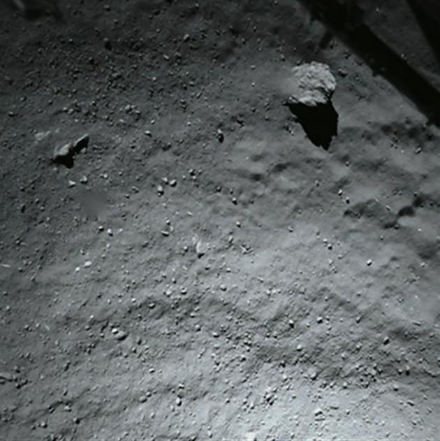 La comète vue par Philae (ESA)