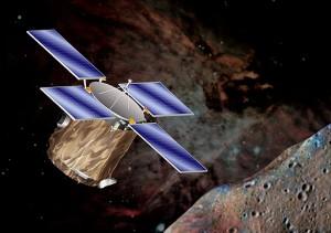 Vue d'artiste de la sonde NEAR (NASA)