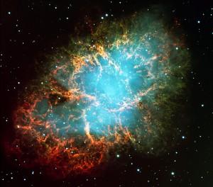 La nébuleuse du Crabe, vestige de l'explosion de la supernova de l'an 1054, vue avec le Very Large Telescope européen. Photo ESO.