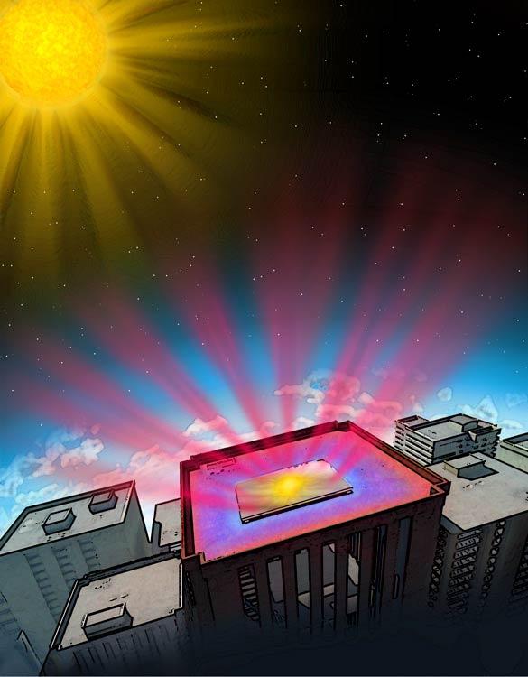 Un matériau qui renvoie vers l'espace son surplus de chaleur (Ph. Fan Lab)