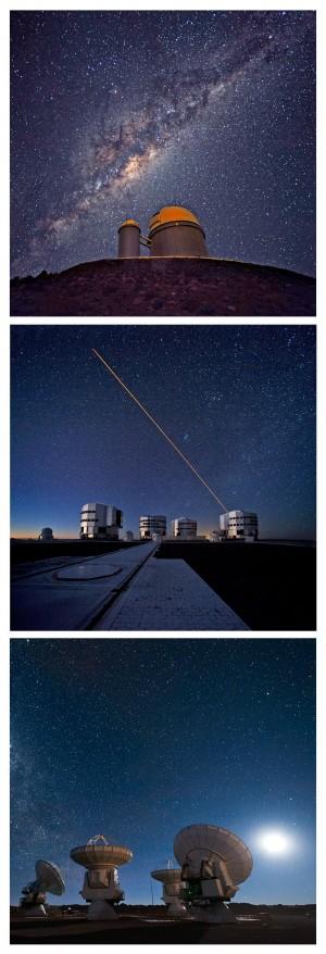 Les bégaiements de l'Observatoire européen austral depuis le début du projet E-ELT, et sa progressive dévolution - on est passé en quelques années d'un télescope de 42 m à 39 m, pendant que les délais de constructions s'allongeaient – ont peut-être une autre cause, plus profonde et historique. L'ESO, aujourd'hui, c'est déjà trois observatoires: La Silla, qui vient de fêter son cinquantenaire, à la lisière sud du désert d'Atacama, Cerro Paranal, et son fameux réseau VLT (Very Large Telescope), et enfin Alma, dans les Andes, à la lisière est du désert et en collaboration internationale. Il faut donc à l'organisation européenne gérer trois sites astronomiques, leur personnel, leurs télescopes, leurs équipements, tout en en préparant un quatrième. Faisons les comptes: en tout, soixante quinze télescopes ou radiotélescopes. C'est beaucoup... Est-ce trop?