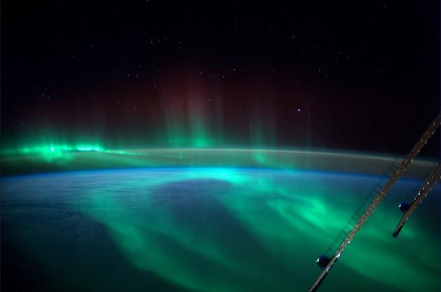 Une aurore boréale capturée par l'objectif de l'astronaute de l'ESA Alexander Gerst depuis l'ISS. / Ph. ESA/NASA