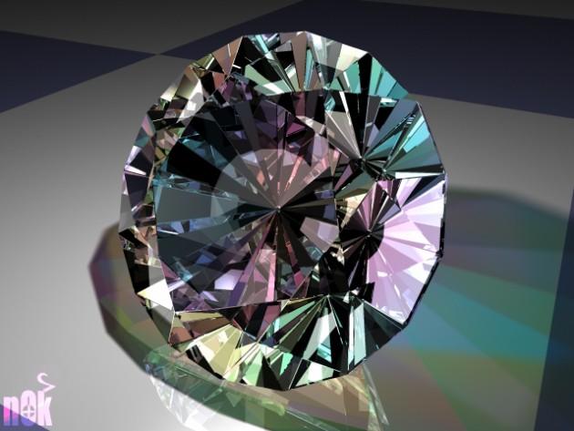 Le diamant, composé exclusivement d'atomes de carbone comme le graphite, doit sa dureté à l'arrangement de ceux-ci suivant un réseau régulier compact (Ph. Nikilok via Flickr CC BY 2.0)