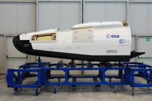 La capsule en phase d'intégration (Ph. ESA)
