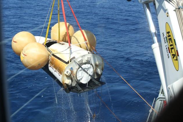 La capsule IXV a été repêchée dans l'Océan Pacifique, à l'Ouest des Iles Galapagos (crédit : ESA/Tommaso Javidi).