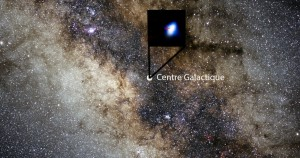 Le trou noir du centre galactique se trouve à 26 000 années-lumière de la Terre. La région centrale de notre galaxie est invisible, masquée par des nuages interstellaires. Seuls des télescopes infrarouges permettent d'observer l'environnement du trou noir. Photos S.Brunier/ESO.