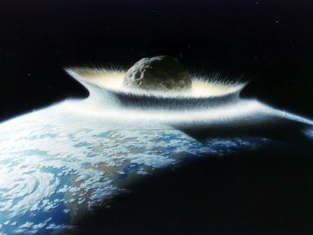 Vue d'artiste d'un impact météoritique majeur sur la Terre (Credit : NASA/Don Davis)