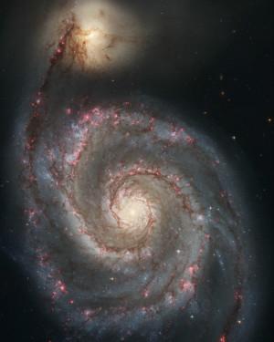 La double galaxie des Chiens de Chasse, photographiée par le télescope spatial Hubble. Photo Nasa/ESA/STSCI.