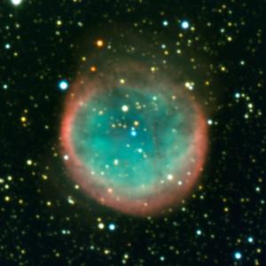 La nébuleuse planétaire NGC 6781 se trouve dans la constellation de l'Aigle, elle ne peut être observée que sous un beau ciel sans Lune, loin de la lumière des villes. Photo ESO.