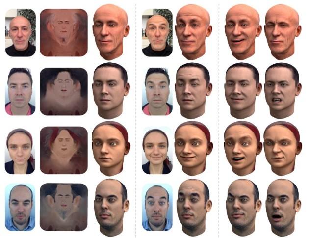 Les visages filmés en qualité même moyenne par un smartphone permet de reconstruire son avatar (A. E. Ichim et al., EPFL)