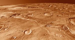 De l'eau a coulé sur Mars en grande quantité, il y a plus de trois milliards d'années. Ici, Ravi Vallis, une coulée catastrophique, provoquée par l'effondrement de dizaines de milliers de km2 de désert martien, gorgé de glace. Photo Nasa.