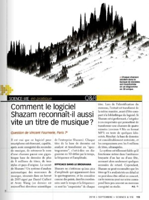S&V 1116 - 2010 Shazam musique