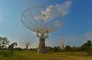 Les données d'Astrosat vont irriguer l'ensemble de la communauté scientifique indienne. Les radioastronomes de l'observatoire de Narayangaon, un interféromètre radio géant, ou de l'observatoire himalayen de Hanle, suivront dans d'autres domaines de longueur d'onde les astres observés par Astrosat. Photo S. Brunier.