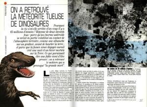 S&V 886 - meteorite dinosaures