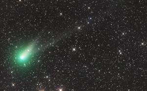 La comète Catalina, photographiée en août 2015, en Australie, avant son passage au plus près du Soleil. Photo Ian Sharp.