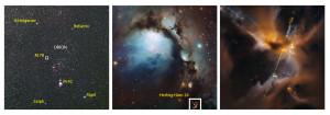 L'étoile naissante Herbig-Haro 24 se trouve non loin de la nébuleuse M 78, dans la constellation d'Orion. HH 24 se trouve à près de 1400 année-lumière de la Terre. Photos S.Brunier/ESO/Nasa/ESA/STSCI.