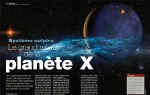 Capture planete X