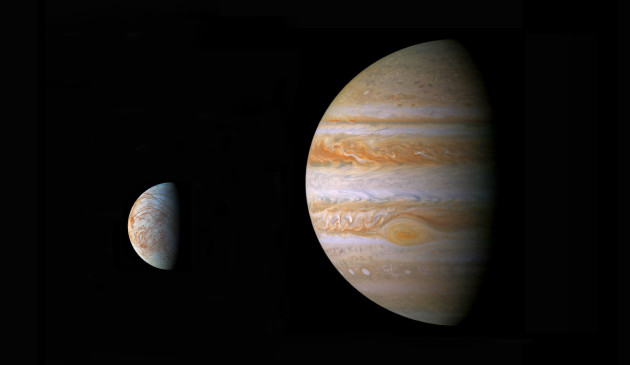 Trois missions spatiales ambitieuses sont prévues par la Nasa et l'ESA pour explorer le système de Jupiter : Juno, Juice et Europa Mission... Rendez-vous entre cet été et... 2030. Photo Nasa.