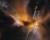 Deux jets de plasma brûlant s'échappent d'une étoile naissante, cachée par les voiles d'une nébuleuse, dans la constellation d'Orion. Jamais les astronomes n'avaient observé la nébuleuse Herbig-Haro 24 avec une telle précision. Cette image infrarouge, représentée ici en fausses couleurs, a été prise par le télescope spatial Hubble. Photo STSCI/Nasa/ESA.