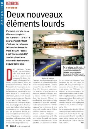 S&V 984 - elements 116 et 118