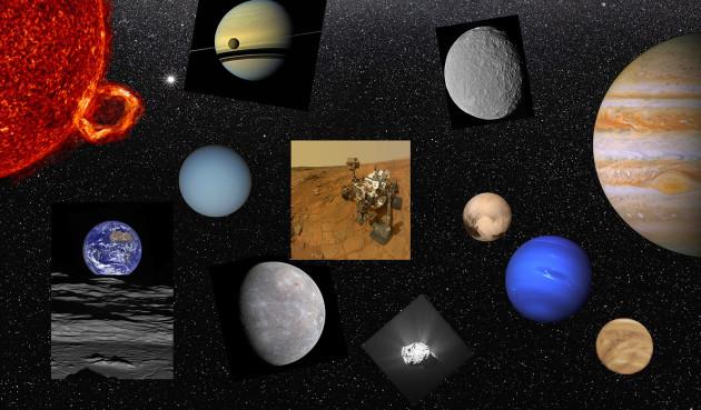 Le système solaire en 2016