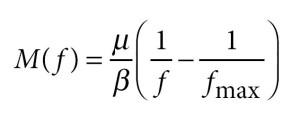 La formule mathématique (loi de puissance) découverte par les chercheurs où figurent les paramètres et d'autres variables mesurables par l'observation.