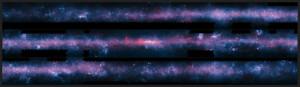 L'image mosaïque de la Voie lactée prise par Apex, Planck et Spitzer mesure 140 degrés de longueur sur 3 degrés de hauteur.ESO/Nasa/ESA.