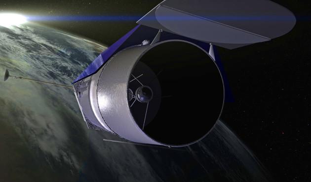 Il a de faux airs de Hubble, et c'est normal : WFIRST, le futur télescope spatial de la Nasa, sera équipé d'un miroir identique à celui de son vénérable prédécesseur. Illustration Nasa.