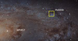 WFIRST aura les mêmes capacités optiques que le télescope spatial Hubble dans le domaine infrarouge proche, entre 1 et 2 micromètres de longueur d'onde. Mais l'avantage extraordinaire de ce nouvel instrument, ce sera son champ de vision cent fois plus étendu. Ainsi, pour réaliser cette image mosaïque d'un bras de la galaxie spirale d'Andromède, il a fallu 400 heures de pose à Hubble, et surtout 400 pointages différents... WFIRST réalisera la même image en une heure de temps. Photo Nasa/ESA/STSCI.