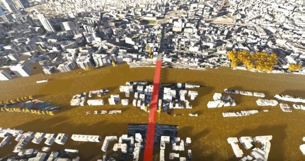 En cas de crue centennale, l'inondation de la ville empêcherait l'accès aux ponts de la Seine. - Ph. IAU / XavierOpigez