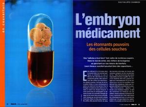 S&V 1010 - cellules souches embryon