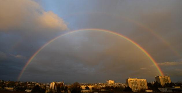 Un arc-en-ciel en région parisienne. Ph. Serge Brunier
