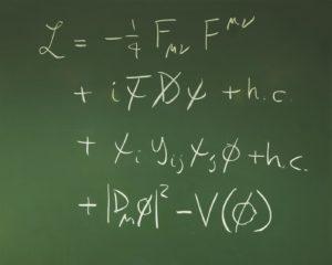 Les équations de la physique (ici celles du modèle standard) résultent de puissants principes de symétrie. L'absence de découverte au LHC pourrait remettre en cause ce sacro-saint principe (crédit : Cern)