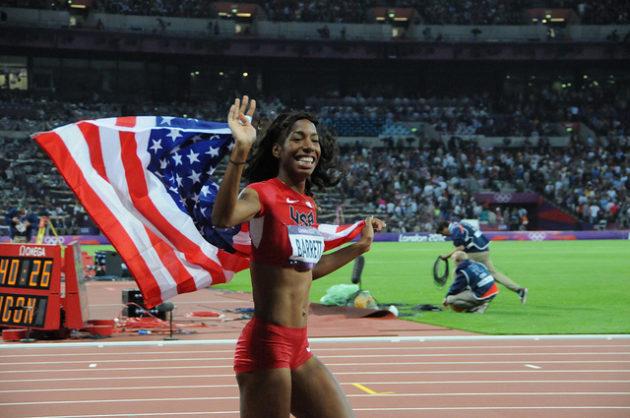 En envoyant aux JO beaucoup d'athlètes femmes (ici la sauteuse Brigetta Barret, argent aux JO de Londres en 2012), des pays comme les Etats-Unis gagnent plus de médailles. - Ph. T_Abdelmoumen / Flickr / CC BY 2.0