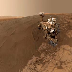 La sonde Curiosity explore la planète rouge depuis 2012. Photo Nasa.