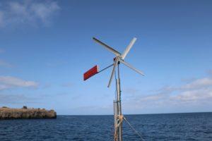 L'éolienne low-cost et low-tech embarquée sur le Nomade des mers - Crédit : Elaine Le Floch - Nomade des mers