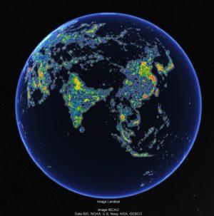 Le ciel nocturne d'Asie - Crédit : Fabio Falchi et al.