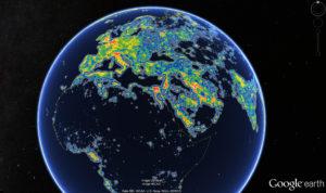 Zoom sur l'Europe et l'Arabie - Crédit : Fabio Falchi et al.