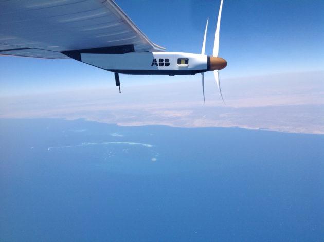 Solar Impulse atteint la péninsule arabique lors de son dernier vol, entre Le Caire et Abu Dhabi. - Ph. Solar Impulse